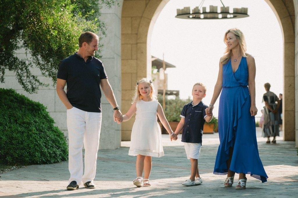 Family photos at Costa Navarino 2
